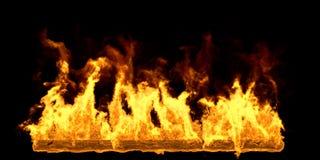 Big Fire Flame on Black Background. 3D Illustration Vector Illustration