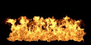 Big Fire Flame on Black Background. 3D Illustration Royalty Free Illustration