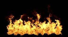 Big Fire Flame on Black Background. 3D Illustration stock illustration