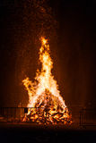 Big fire for the National Day in Switzerland Stock Image