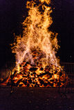Big fire for the National Day in Switzerland Stock Photography