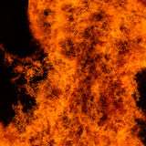 Big fire panorama Royalty Free Stock Image