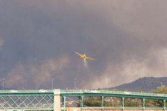 Big Fire in Serra de Perre Stock Photo