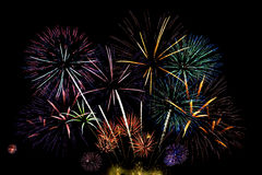 Big firework display Stock Photos