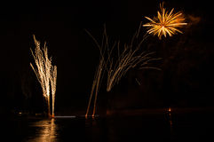 Fireworks in arles city Royalty Free Stock Images