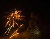 Fireworks in arles city Royalty Free Stock Photos