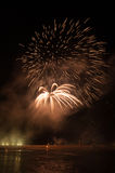 Fireworks in arles city Royalty Free Stock Photo