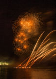 Fireworks in arles city Stock Image