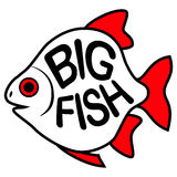 Big Fish background. Stock Images
