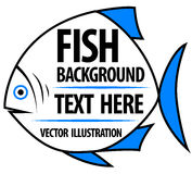 Big fish background for text. Fish frame. Vector illustration Royalty Free Stock Photos
