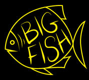 Big fish background for text. Fish frame. Vector illustration Royalty Free Stock Image
