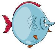 Big fish cartoon character royalty free illustration