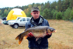 Big fish caught by angler Stock Photos