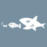 Big Fish Eat Little Fish Stock Photo