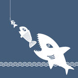 Big Fish Eat Little Fish Stock Images