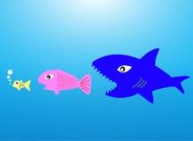 Big Fish Eat Little Fish Royalty Free Stock Image