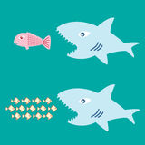 Big fish eat little fish Royalty Free Stock Photo