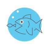Big fish eating little fish Stock Image
