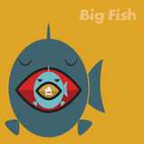Big fish eating a small fish. Concept Stock Photography
