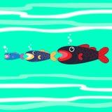 Big fish eats little fish Royalty Free Stock Image