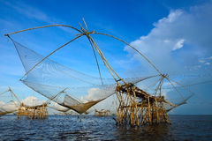 The big Fish lift nets Royalty Free Stock Image