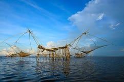 The big Fish lift nets Royalty Free Stock Photo