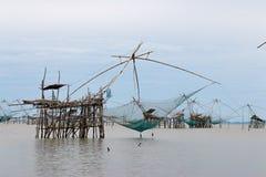 Big fish lift nets. Stock Image