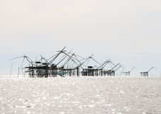 Big fish lift nets. Stock Photography