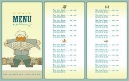 Big fish menu Stock Images