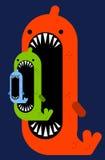 Big fish small fish Stock Image
