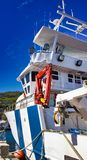 big fishing boat for catching Anchovies stock photography