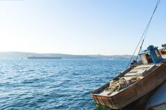 Big fishing boat on the coast of Istanbul