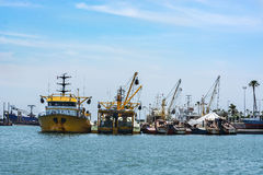 Big fishing boats. At the port Stock Photography