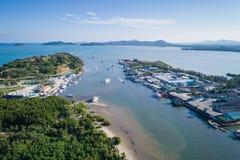 Big fishing boats standing at the sea in Phuket, Thailand Royalty Free Stock Photos