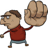 Big Fist. A tough, cartoon man with a really big fist Royalty Free Stock Images