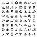 Big fitness icon set. 64 Fitness and Sport  icons for web and mobile. All elements are grouped Stock Photos