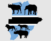 Big Five Botswana Stock Photo