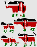 Big Five Kenya Royalty Free Stock Photos