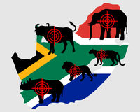 Big Five South Africa cross lines Royalty Free Stock Photo
