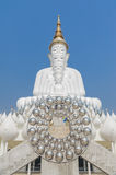Big five white buddha at Wat Pha Sorn Kaew. Also is a Buddhist monastery and temple in Khao Kor, Phetchabun, Thailand. They are public domain or treasure of Royalty Free Stock Image