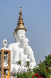 Big five white buddha at Wat Pha Sorn Kaew. Also is a Buddhist monastery and temple in Khao Kor, Phetchabun, Thailand. They are public domain or treasure of Stock Photo