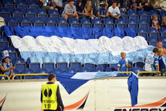 Big flag of FC Dnipro Royalty Free Stock Photos