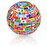 Big Flag Globe Royalty Free Stock Photography