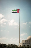 Big flag of UAE Stock Image