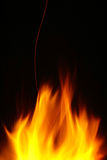 Big flame at night Royalty Free Stock Photography