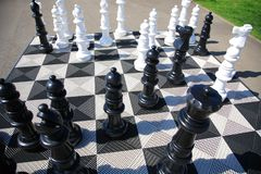 Big floor chess Stock Photos