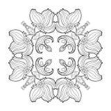 Big floral square form mandala Royalty Free Stock Image