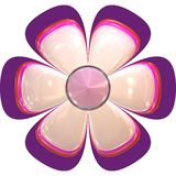 Big flower abstract pink Stock Image