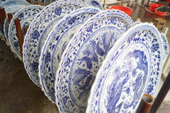 Big flower china dinner plate Stock Photography