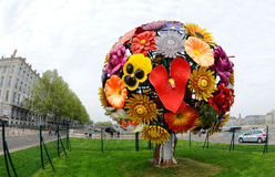 Big flower in Lyon Royalty Free Stock Photos